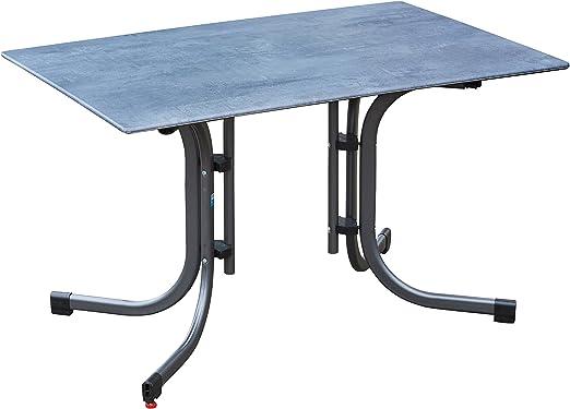 greemotion Table de jardin pliante Laos 120 x 80 cm – Table salon de jardin  4 personnes – Table de jardin bistrot grise – Table extérieur design ...