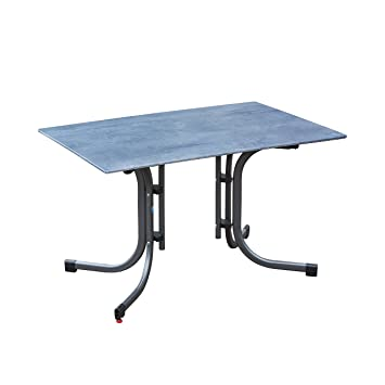 greemotion Table de jardin pliante Laos 120 x 80 cm – Table salon de jardin  4 personnes – Table de jardin bistrot grise – Table extérieur design ...