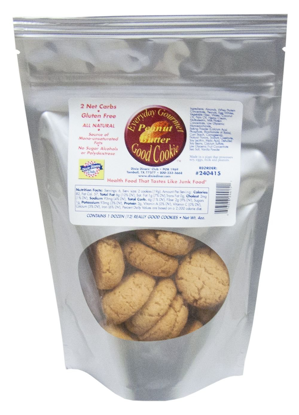 Dixie Carb Counters Peanut Butter Everyday Gourmet Good Cookie