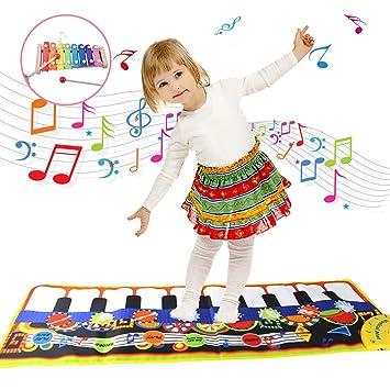 Kinder Spielzeug Musikmatten Keyboard Matte Geschenke zum 2-5 Jahre Alt M/ädchen Jungen Kinder Tanzmatten