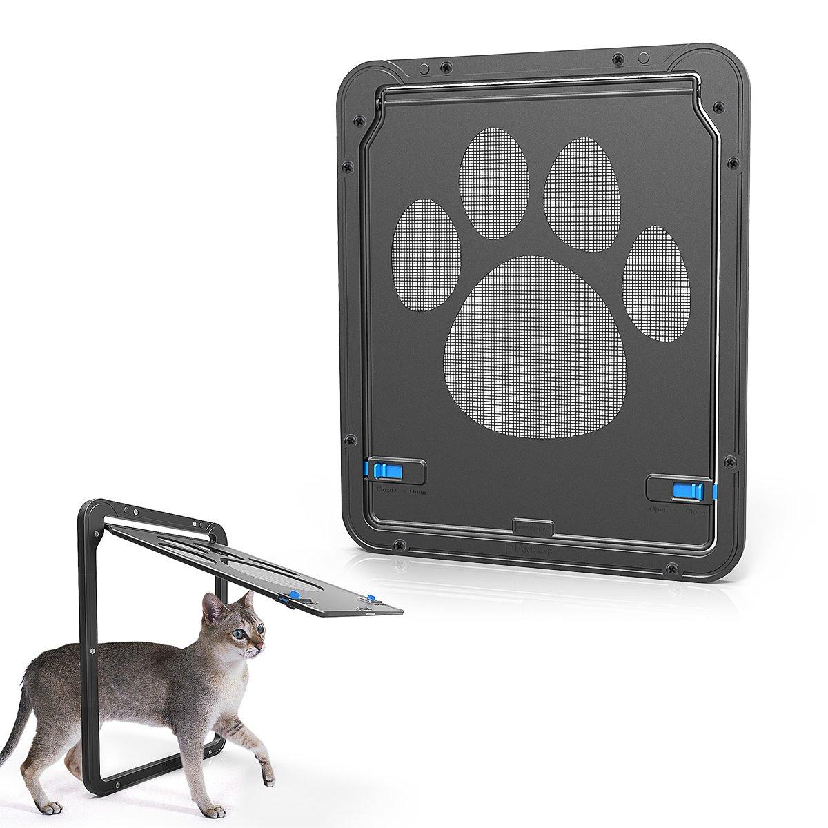 LESYPET Dog Screen Door - Pet Dog Door with Magnetic Automatic Lock for Pet Screen door (Inside 8.25W×10.5H inch)