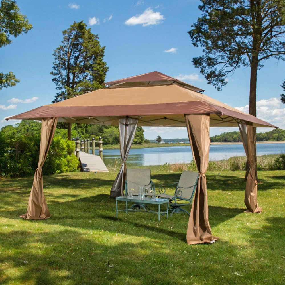 13 x 13 Pop-Up Canopy Gazebo. Great for Providing Extra Shade for your Yard, Patio, or Outdoor Event. Z-Shade ZS1313GAZTB