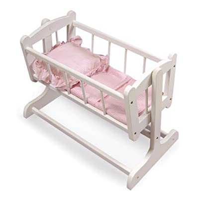 Badger Basket Heirloom Style Doll Cradle with Blanket & Pillow (fits American Girl Dolls): Toys & Games