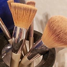 Amazon Com Customer Reviews Fixbody Makeup Brush Sets 10 Pcs Wood Handle Soft Synthetic Fiber Hair Kabuki Powder Blush Liquid Eyeliner Eyeshadow Lip Eyebrow Brush Rose Gold