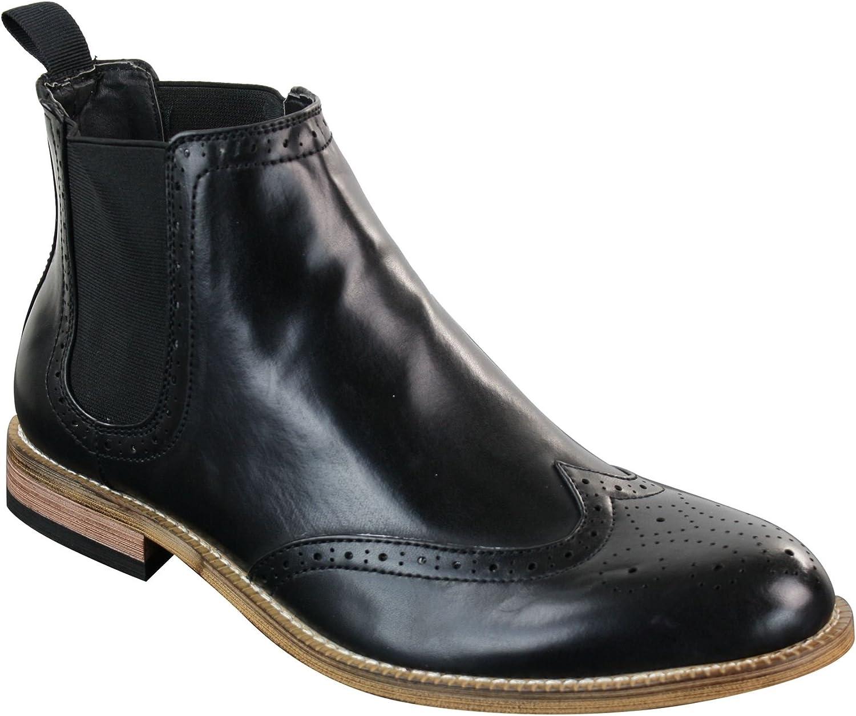 Mens Black Shiny Patent Leather PU