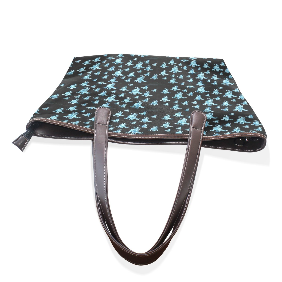 Ye Store Christmas Ghost Lady PU Leather Handbag Tote Bag Shoulder Bag Shopping Bag For