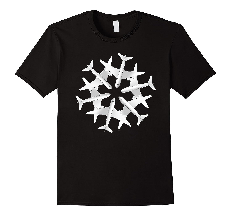 Airplane Snowflake Christmas T-shirt Airlines Xmas Noel-TD