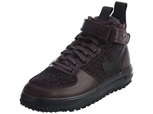 info for e22ec 87aae Nike Lunar Force 1 Flyknit Workboot Mens Deep Burgundy Black 10 D(M) US   Buy Online at Low Prices in India - Amazon.in