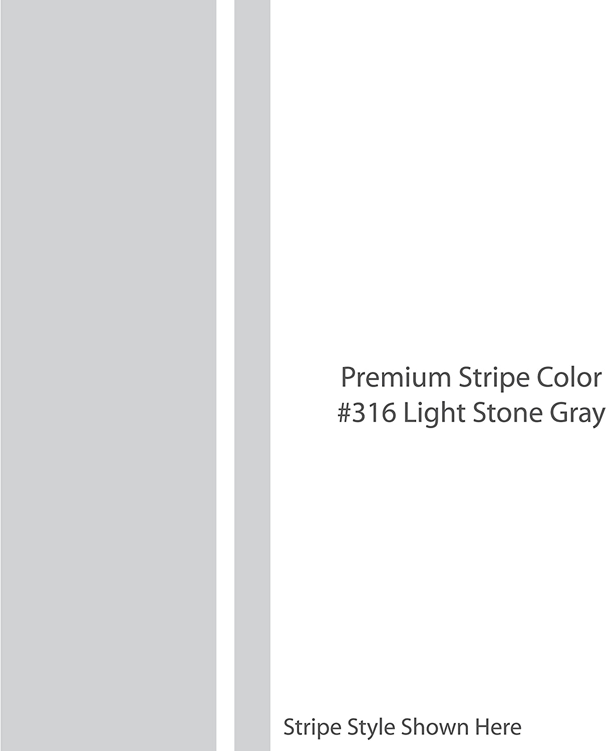 "LIGHT STONE GRAY 22/"" wide PREMIUM Racing Stripes Vinyl Decal SOLID 1/"""