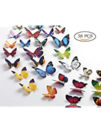 Eoorau 3D Butterfly Removable Mural Stickers.