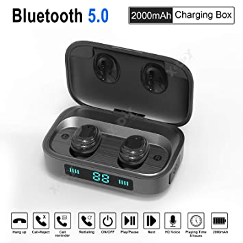 XGODY H01 LED TWS Auriculares Deportivos inalámbricos Bluetooth ...