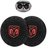 Car Interior Accessories for Dodge Cup Holder Insert Coaster - Silicone Anti Slip Cup Mat for Dodge Ram Caliber Avenger…