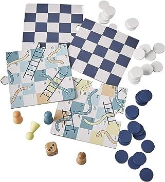 VERTBAUDET Juego de Serpientes y escaleras + Damas Beige Medio Bicolor/Multicolor Unica: Amazon.es: Juguetes y juegos
