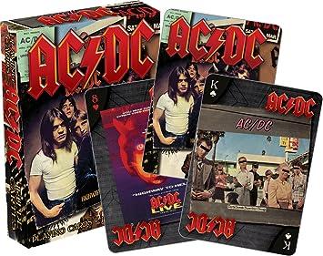 AQUARIUS 52468 AC/DC LP Fundas Set de Cartas de Juego, Multicolor, 3 Pulgadas: Amazon.es: Juguetes y juegos