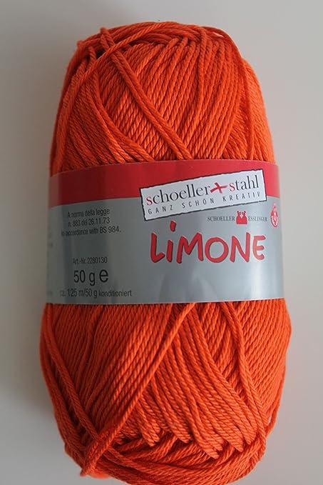 Schoeller&Stahl Limone Lana 50g 100% Algodón Mercerizado Gaseado ...
