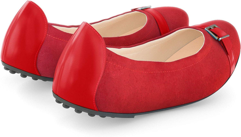 Lei`ano Damenschuhe - Ballerinas Dirma Madrono Rojo FOG8b