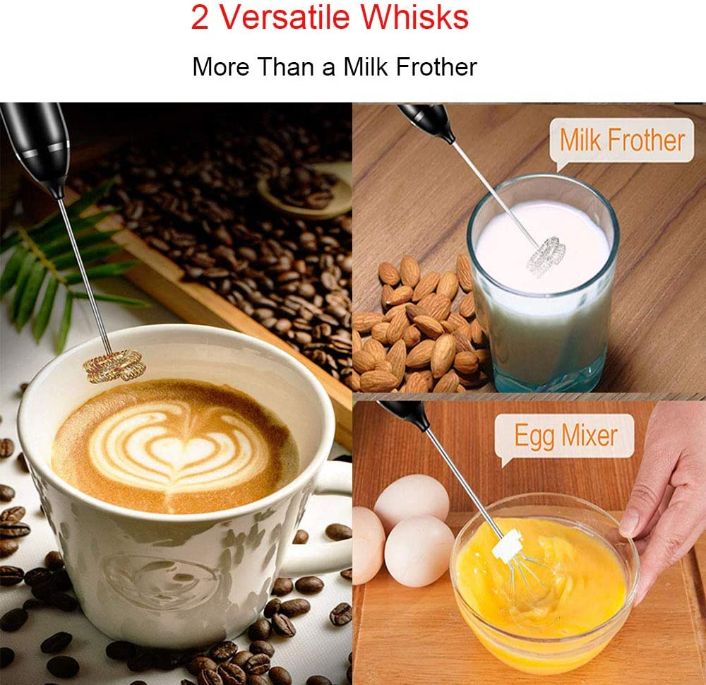 USB Electric Milk Frother Set Hot Milk Chocolate Whisk Mixer Egg Beater