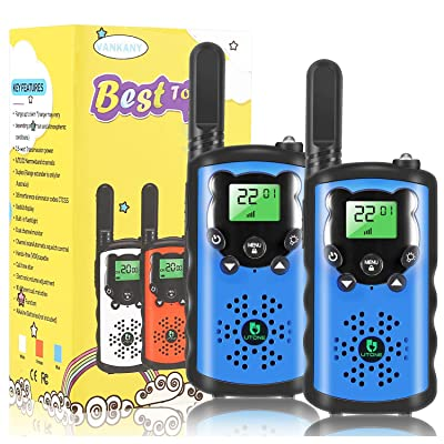 Kids Walkie Talkies, 22 Channel 2 Way Radio Toy, Toys for 3-12 Year Old Boys and Girls, 3 Miles Long Range for Outdoor Camping Game (Blue, 2 Pack): Toys & Games