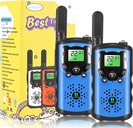 Best Gifts /& Toys for 3-12 Year Old Boys Girls Outside Adventure Game Camping Walkie Talkies for Kids 3 Packs Hiking Support Voice Activation VOX Talking Long Range Interphone