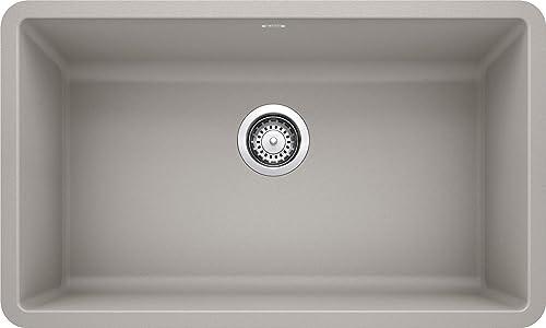 BLANCO 442739 PRECIS SILGRANIT Undermount Kitchen Sink, Concrete Gray