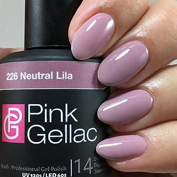Amazon.com : Pink Gellac 226 Neutral Purple. Professional Gel Nail ...
