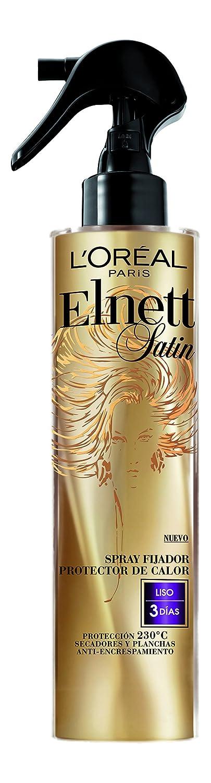 Amazon.com: ELNETT SATIN spray fijador protector de calor liso 170 ml: Clothing