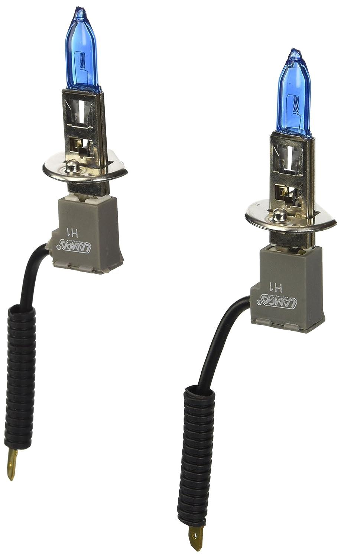 KIT lamparas xenium race h1 , 12v , 100w , 5500k, casquillo px14.5s , 50% + luz , enchufe ceramica , 2300 lm , cable conexion , solo validas para ...