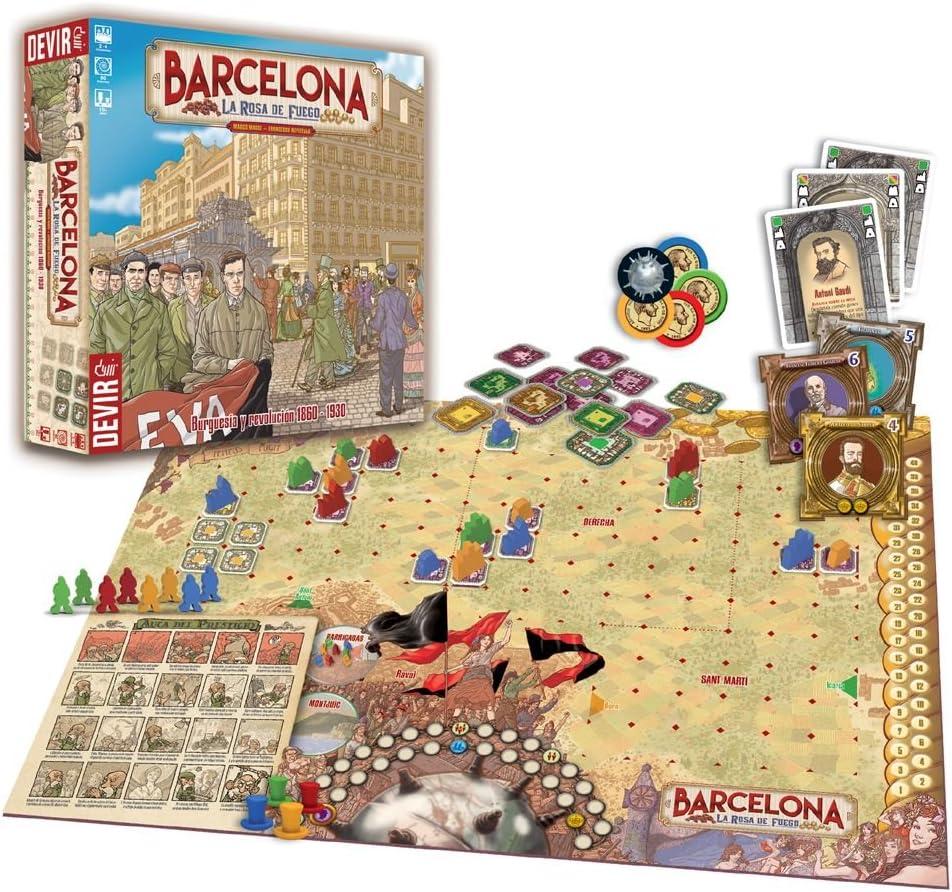 Devir - Barcelona: La Rosa de Fuego (BGBCN): Amazon.es: Juguetes y juegos