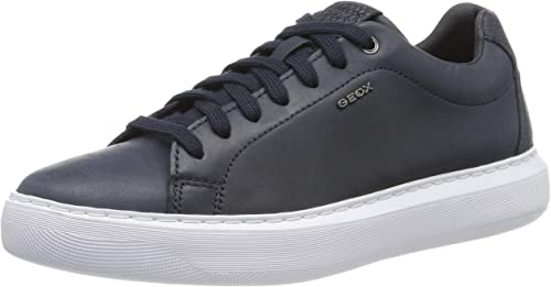 Casual Shoes Black Geox U Ricky F Mens Leather Trainers