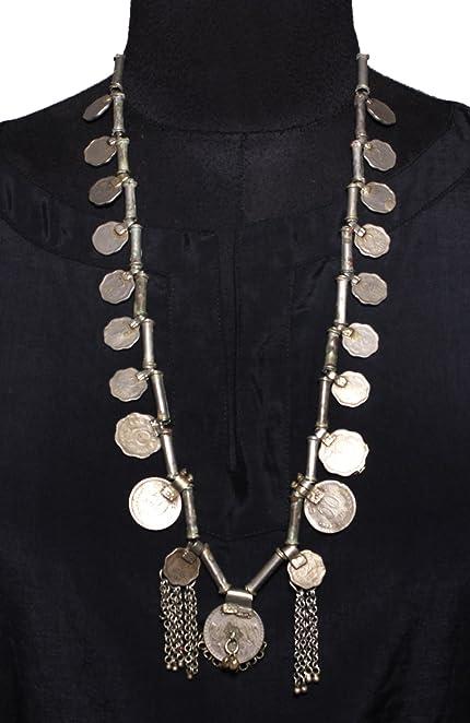 Amazon ethnic fashion authentic necklace kuchi pendant tribal ethnic fashion authentic necklace kuchi pendant tribal coin banjara necklace aloadofball Images