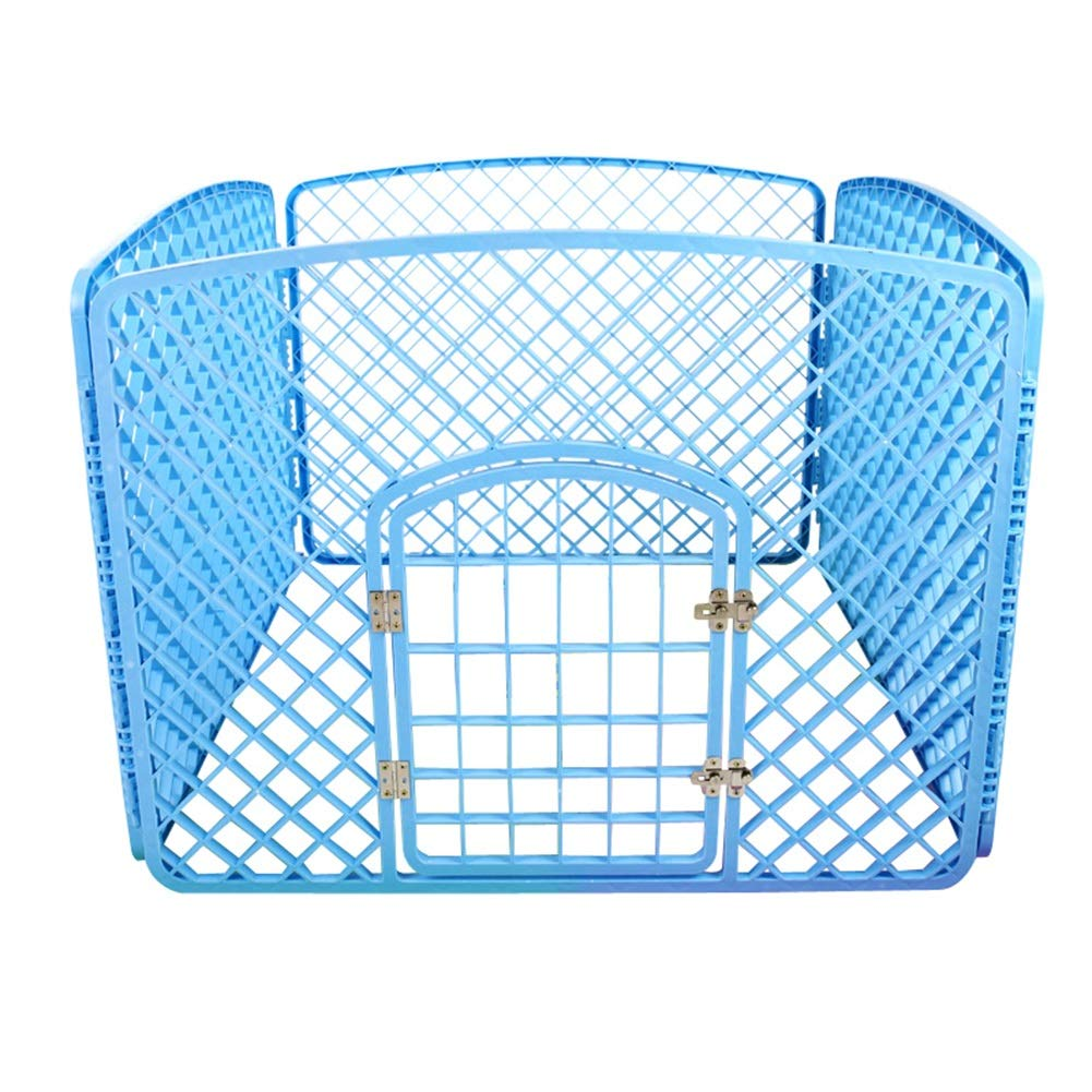 bluee 90×180×60cm bluee 90×180×60cm Pet Playpens Animal Fence Cage, Detachable Dog Fence Small and Medium Sized Dogs Barrier