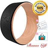 Yoga Wheel - Strongest Most Comfortable Dharma Yoga Prop Wheel for Yoga Poses, Perfect Roller for Stretching, Increasing Flexibility and Improving Backbends 13 x 5 Inches