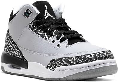 Nike Air Jordan 3 Retro BG, Chaussures de Sport Fille, Gris