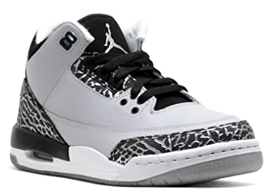 detailing 95ebe a496f Air Jordan 3 Retro BG Big Kids Shoes Wolf GreyMetallic Silver-Black-