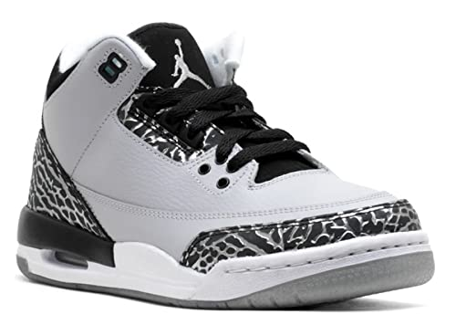 72c161832d0aa Amazon.com: Air Jordan 3 Retro Bg (Gs) 'Wolf Grey' - 398614-004 ...