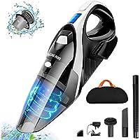 Aspiradora de Mano, Aspirador de Mano Sin Cable, 9000PA, Aspiradora de Mano Sin Cable Potente, Luz LED, Batería de…