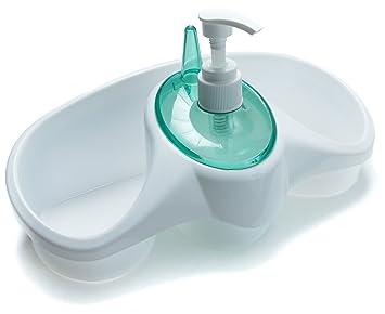 Amazon.com: Konex Kitchen Sink Organizer Detergent Dispenser with ...