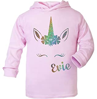 K By Varsany Fuchia PINK 7-8 Years Girls Horse Face riding Personalised Hoodie Crystal Dance Jumper Leotard kids Hoody