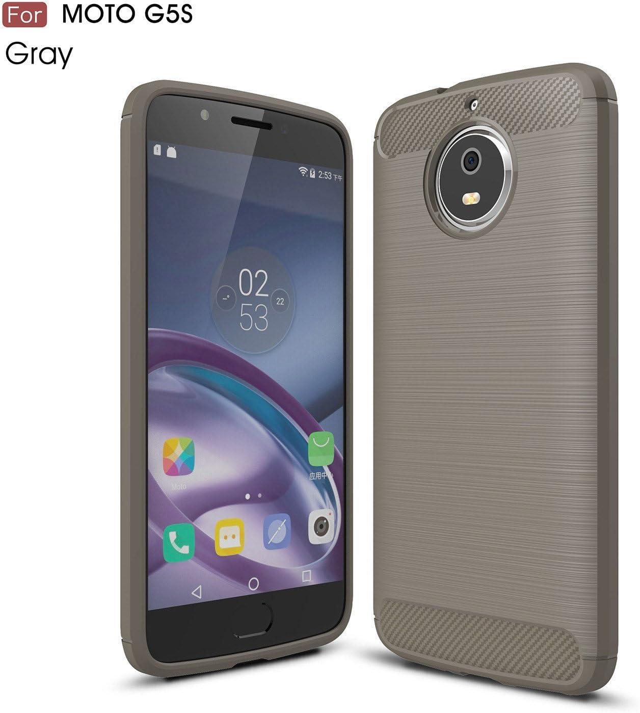 pinlu® Funda para Motorola Moto G5S Suave TPU Gel Silicona Case ...