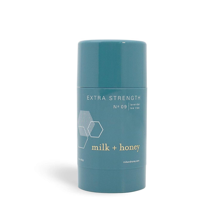 milk + honey Aluminum Free, Extra Strength Deodorant No. 09, Lavender Tea Tree, 2.6 Ounce (Packaging May Vary)