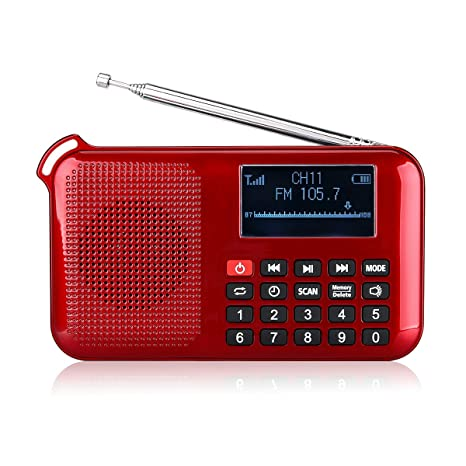 Retekess Portable L 388 Solar Radio Flashlight With FM Mp3 Player Speaker Sleep Timer Phone