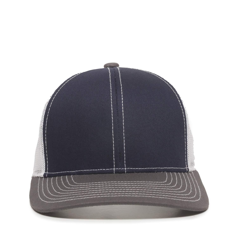 Outdoor Cap Structured Mesh Back Trucker Cap