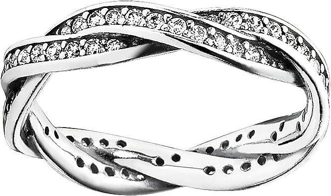 anello eternity pandora intrecciato
