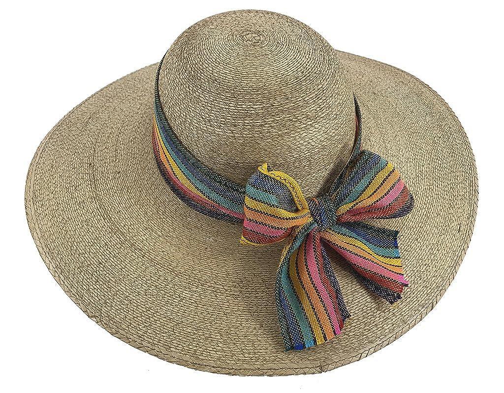 Palmoro HAT レディース B073MHL8XB M|Cafe W/ Yellow/Rainbow Bow Cafe W/ Yellow/Rainbow Bow M