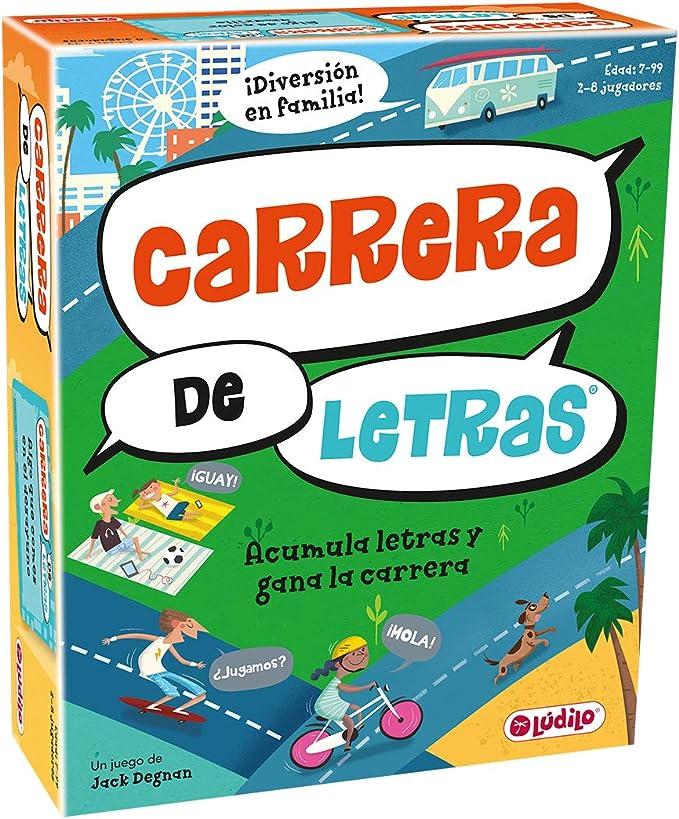 Carrera de letras (Lúdilo) – Juego de Mesa Educativo para niños, juega con las palabras y fomenta la adquisición de vocabulario, Jugar en familia para aprender y desarrollar el lenguaje: Amazon.es: Juguetes