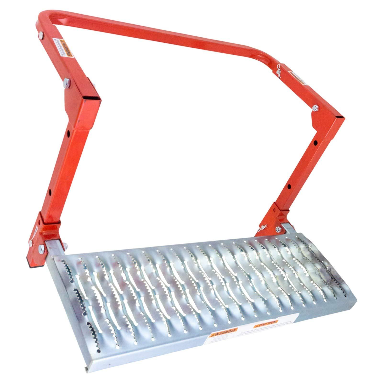 Adjustable Wheel Step 300lb Capacity Non-slip Surface Folding Work Platform