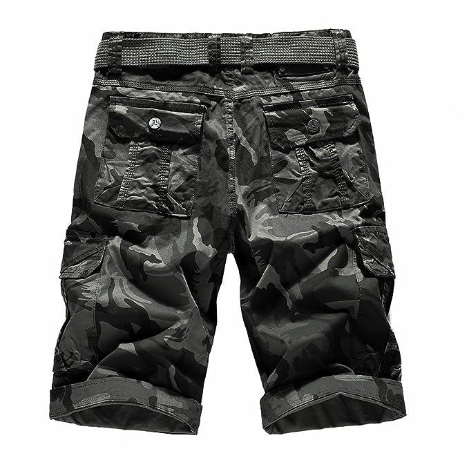a9efa55bcc7 Gusspower 2018 Pantalones Cortos de Cargo Camo Camuflaje Bermuda Shorts  para Hombre Multi-Bolsillos: Amazon.es: Ropa y accesorios