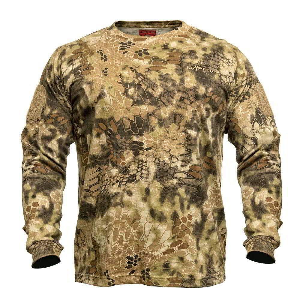 Kryptek Stalker Long Sleeve Camo Hunting Shirt (Stalker Collection), Highlander, XS
