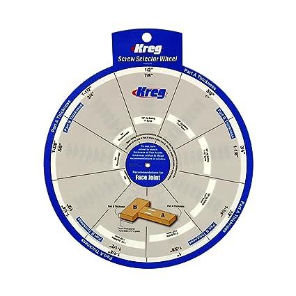 Kreg SSW 1/2-1-1/2-Inch Two-Sided Polypropylene Screw Selector Wheel