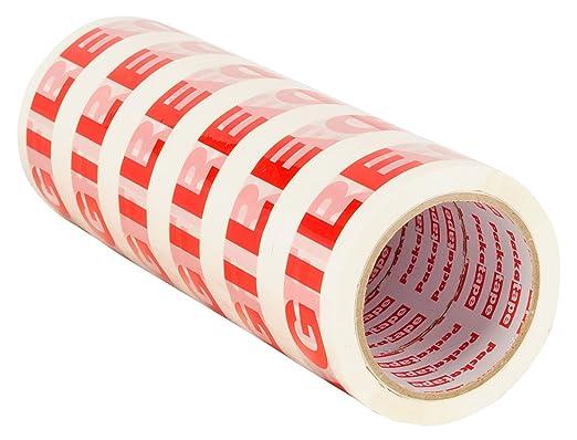 61 opinioni per Packatape- 6 Rotoli Da 48Mm X 66M Di Fragile Nastro Adesivo Per Imballaggi Per